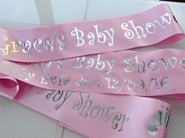 Pink Baby Shower Sash